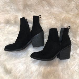 Mission Faux Suede Booties FIT LIKE 9.5